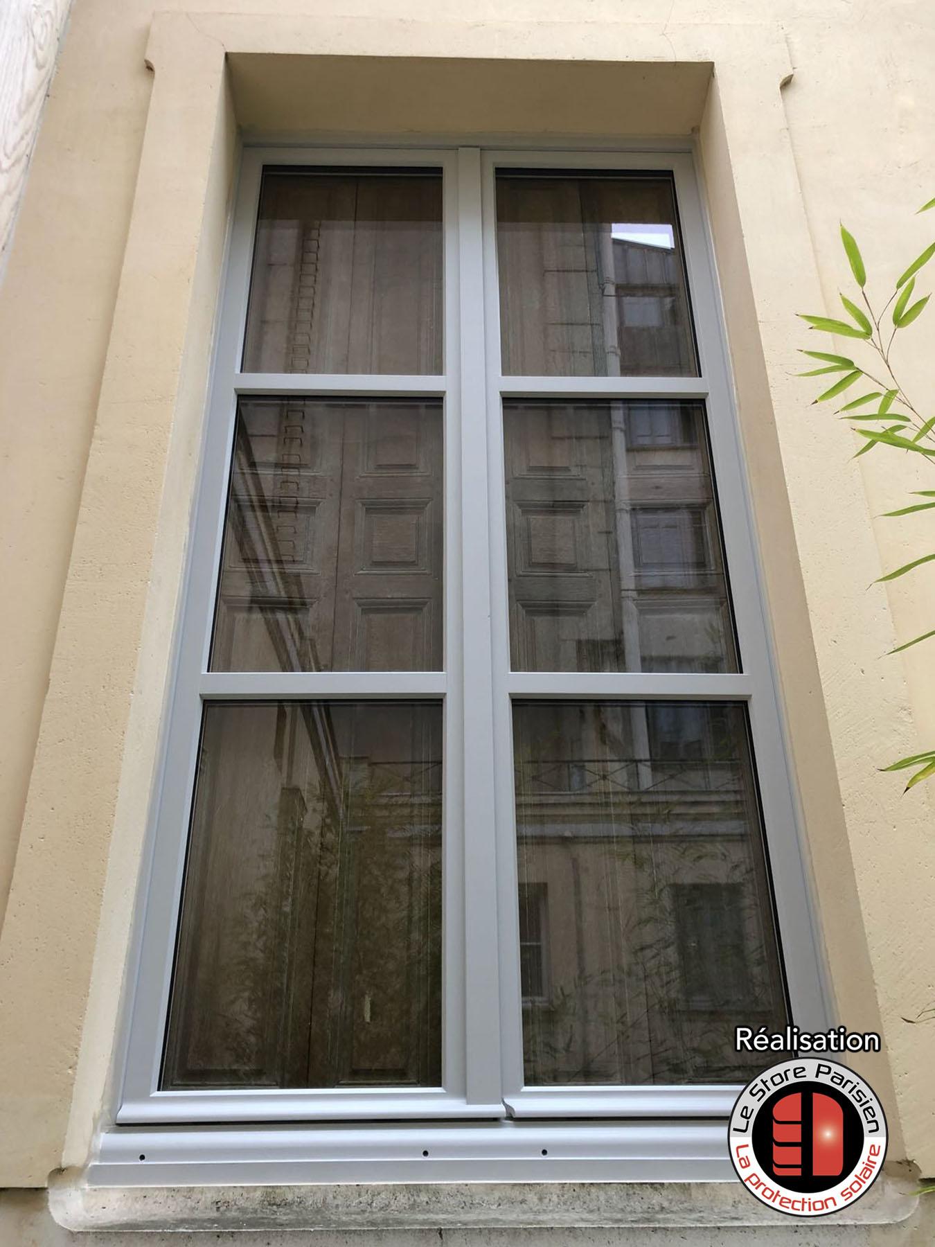 Renovation Volets Bois Paris le store parisien : fenêtres haussmanniennes en bois sur